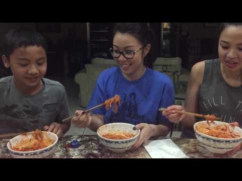 Holy sheet big Asian T eat bloody ramen literally!!!!