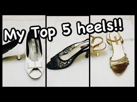 Try on+My Top 5 Footwear (Heels)2016!!! Indian Dreamer  Nivi Mudaliar