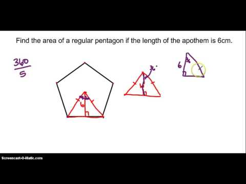 Find area of regular polygon given apothem