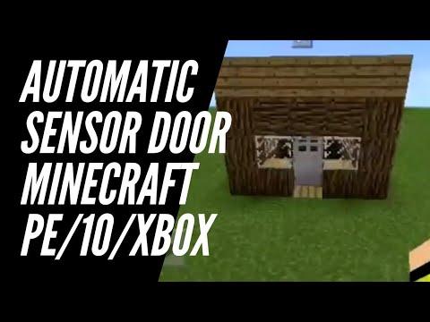 How to make Automatic Sensor Door using Command Blocks || Minecraft 1.5.0.0 Latest