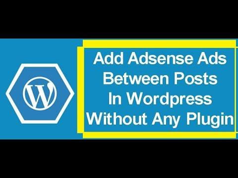 Adsense Ads to Wordpress without plugin