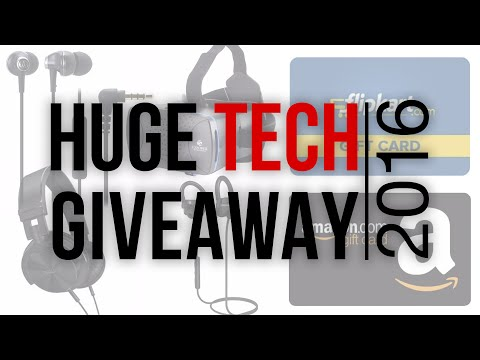 Huge Tech Giveaway 2016 | Headphones, Speakers, Gift Vouchers & More!