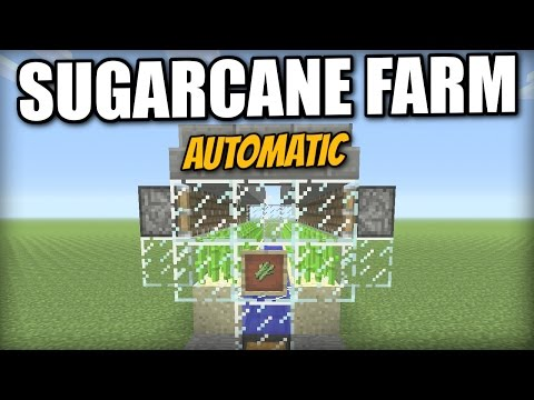 Minecraft PS4 - AUTOMATIC SUGARCANE FARM [ lossless ] Tutorial - PE / Xbox / PS3 / Switch