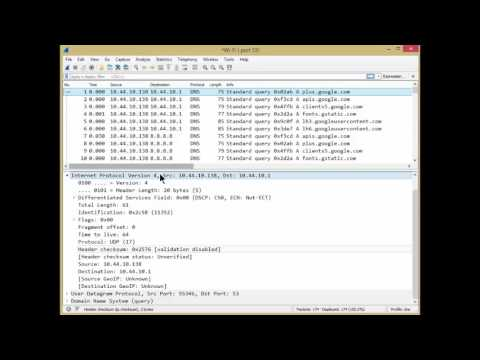 Analyzing DNS with Wireshark