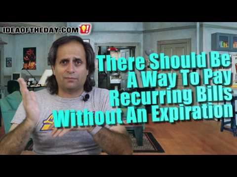Paying Bills with Credit Cards That Don't Expire.  Idea of the day #162