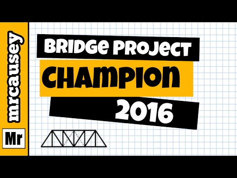 Mr. Causey's Physics Bridge Project Champion 2016
