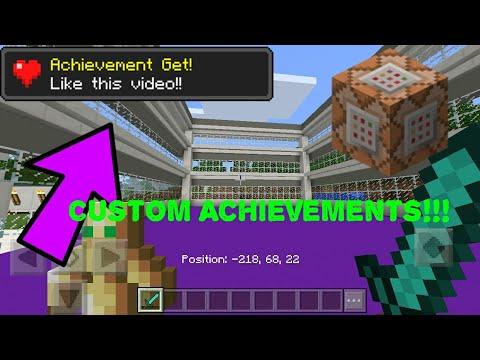 Make Custom Achievements in Minecraft Pocket Edition | Command Blocks