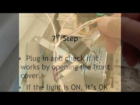 How To Change the Light Bulb on Panasonic Microwave NN-SD691S