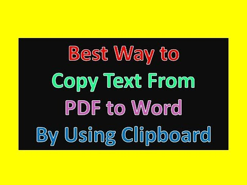 Best Way to Copy Text From PDF to Word By Using Clipboard