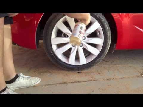 Cleaning white Plasti Dip rims with BDP (Brake Dust Bro) Touchless wash