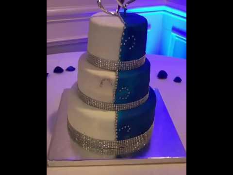 Airbrushed Wedding Cake