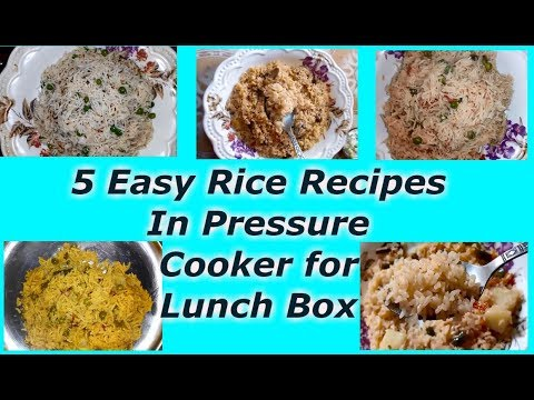 5 Easy & Different Rice Recipes For Lunch Box|Best Rice Recipes in Tamil|Rice Recipes For Kids