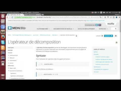 ECMAScript 6 - 10  - L'opérateur de décomposition