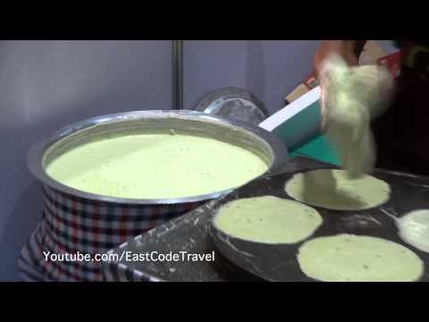 sweet spring roll bread  making  Thai street food