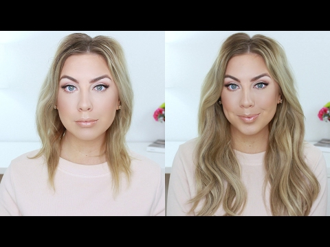 The BEST Hair Extensions EVER ! HaloCouture + Blonde Hair Hack!