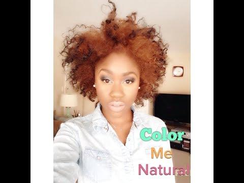 Color Me Natural (Strawberry Blonde Natural Hair)   Shanese Danae