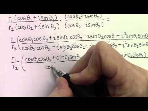 Division of Complex Numbers in Polar Form - Notes and Example - Hernandez