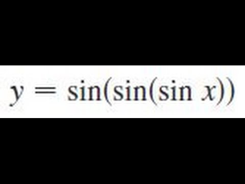 y = sin(sin(sin x)), Find the derivative of the function.