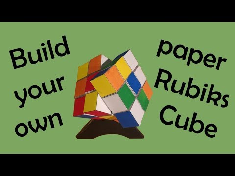 How to build a Rubiks Cube out of paper | With template