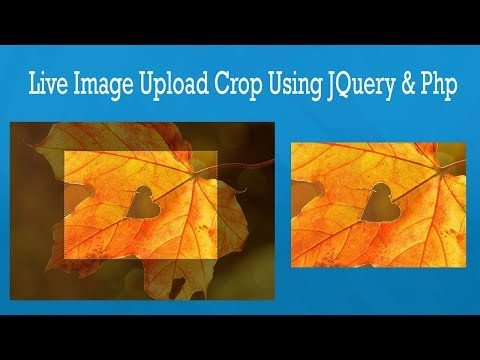 Live Image Upload Crop using jQuery and PHP || symfony tutorial
