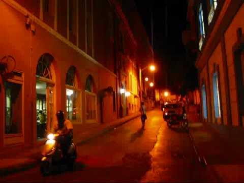 Cuba Travel - Night-Time in Santiago de Cuba's Shopping Street