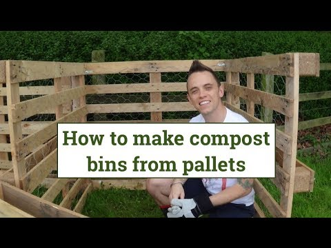 Making Compost bins from Pallets