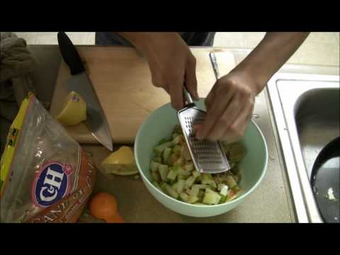 College Cooking with Chris Chang: Apple/Pear Galette Part 1