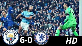 Manchester City Vs Chelsea 6-0   GOLEADA IMPRESIONANTE   RESUMEN y GOLES