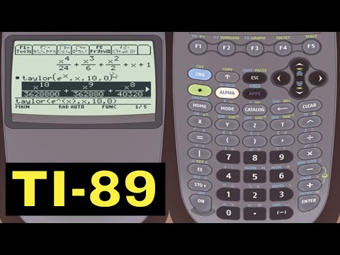TI-89 Calculator - 08 - Calculator Taylor and Maclaurin Polynomials