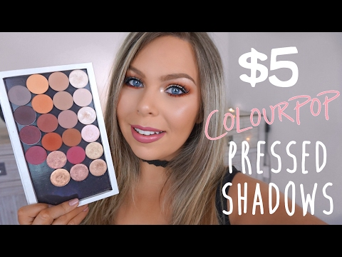 COLOURPOP PRESSED EYESHADOWS | Swatches, Demo & Review