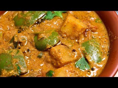 Potato Capsicum Masala for Chappathi and Rotti