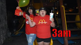 We OPENED Our Own McDONALD'S At HOME At 3am!!