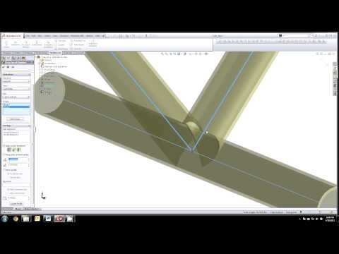 Solidworks 3D Sketch Tube Weldment, Cope Tubes, Flat Pattern Tubes, Paper Templates for Tube Ends