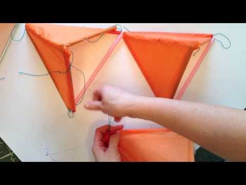How to make a Tetrahedral Kite