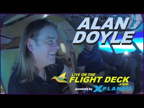 Alan Doyle - Live on the Flight Deck - Melbourne to Tasmania to Russell Crowe's place in Sydney