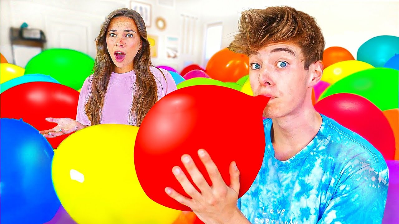 FILLED BESTFRIENDS ROOM WITH GIANT BALLOONS!!