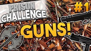 Prison Architect ARMORY CHALLENGE ★ GUNS FOR EVERYONE! (#1) - Prison Architect User Challenge