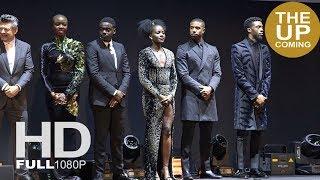 Black Panther premiere stage presentation & red carpet: Chadwick Boseman, Kaluuya, Lupita Nyong