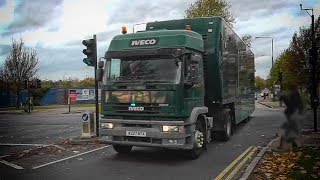 RARE! London Metropolitan Police escorting UNMARKED Iveco TRUCK!