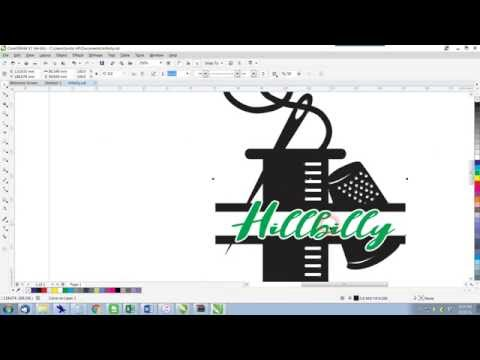 CorelDRAW X7 Tutorial Welding Shapes to prepare for Laser Cutting