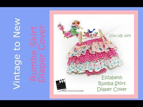 Rumba Skirt / Pants Diaper Cover Pattern Tutorial