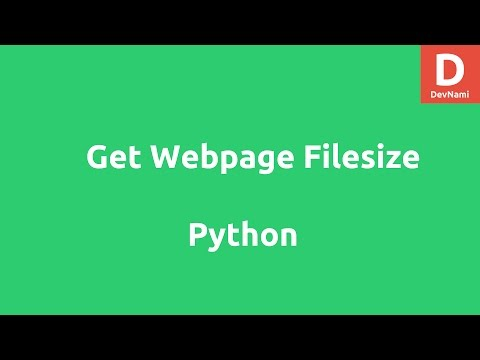 Get Webpage File Size in Python