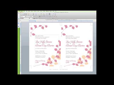 How To Edit a Wedding Invitation Template in Word