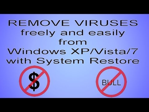 System Restore from Safe Mode Command Prompt (can help remove some viruses)