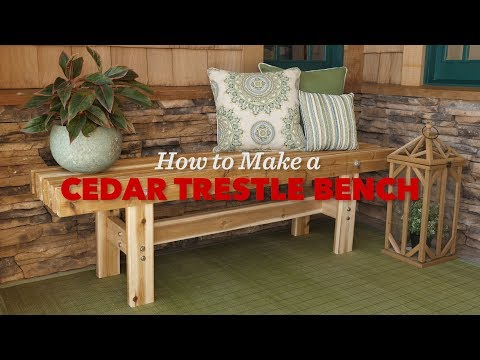 How to Build an Outdoor Trestle Bench - Saturday Morning Workshop