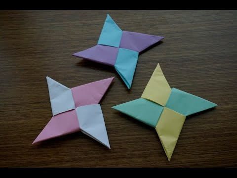 How to Make a Paper Ninja Star(手裏剣)-Easy Origami for beginners using printer paper!