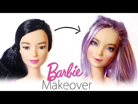 Barbie Makeover: Doll Repaint #4 - Barbie Made To Move