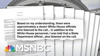 All The President's Men Named In The Whistleblower Complaint | Deadline | MSNBC