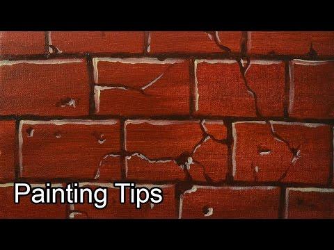 Acrylic Painting Lesson - How to Paint Bricks by JM Lisondra