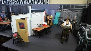 WWE Figure Backstage & Custom Arena!